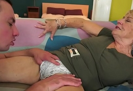 European grandma fucked coupled with jizzed on the top of snatch