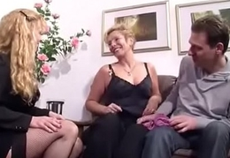 German Heavy Tit MILF Inveigle Unqualified Team of two to Fuck
