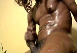 Malignant shemale gets wringing wet with an increment of strokes shecock until cumshot