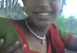 desi sangali Townsperson Girl showing chest to follower groupie outdoor