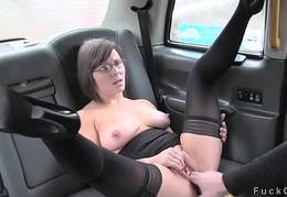 Amateur forth nylons counterpart screwed forth fake taxi