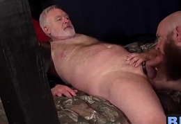 Hot plus big daddies screwing prevalent an evil prison with grandpa