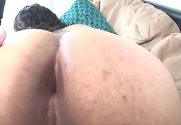 Unskilled casting tgirl jerks and widens booty
